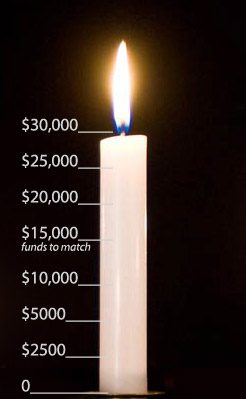 Har Shalom Missoula Fund Raising Candle